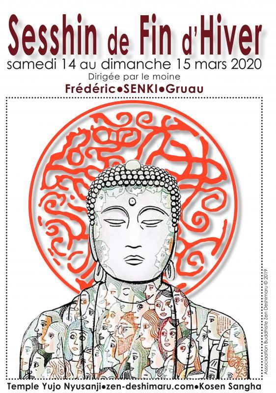 Sesshin de fin d'hiver 2020: Zazen la méditation Zen, Temple du Caroux près de Montpellier
