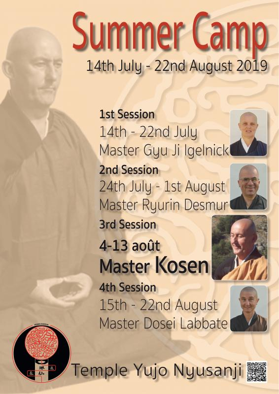 Summer Camp 2019: Zazen the méditation Zen, Caroux Temple near of Montpellier