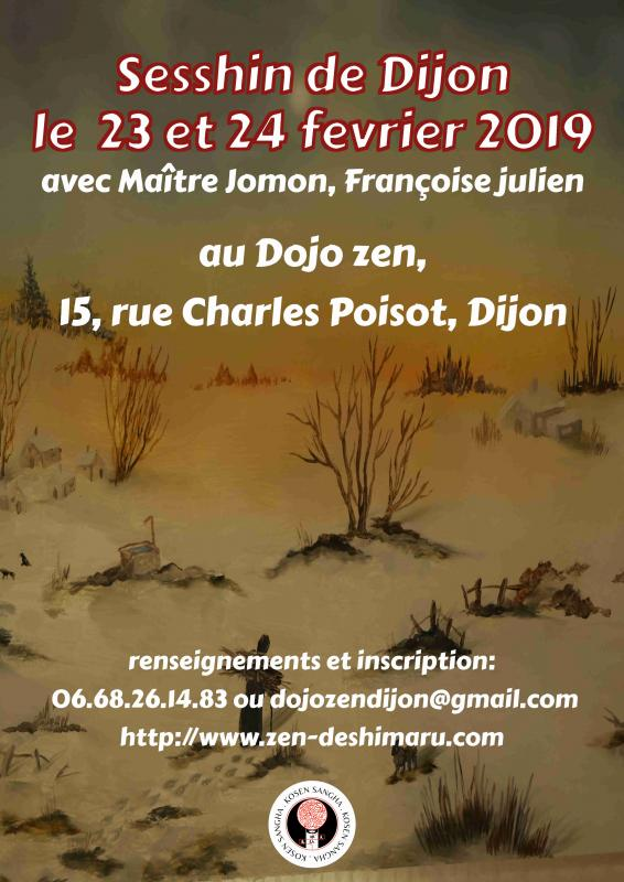 Sesshin de Dijon 2019: Zazen la méditation Zen, Dojo Zen de Dijon