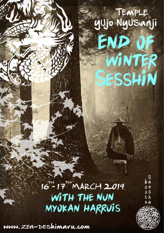 End of winter Sesshin 2019: Zazen the méditation Zen, Caroux Temple near of Montpellier