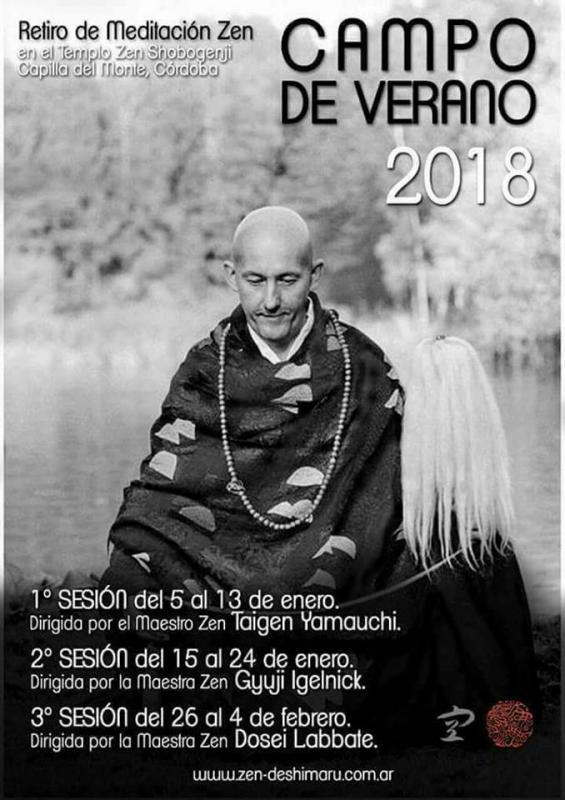 Le camp d'été 2018 au Temple zen Shobogenji Argentine : un mois de pratique de zazen