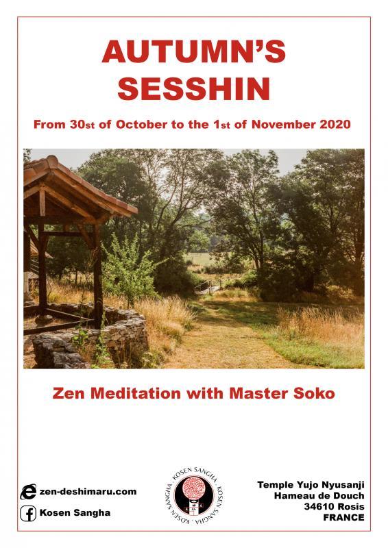 Autumn camp 2020: Zazen the méditation Zen, Caroux Temple near of Montpellier