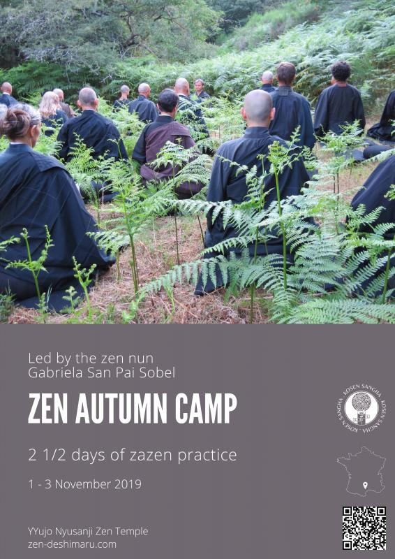Autumn camp 2019: Zazen the méditation Zen, Caroux Temple near of Montpellier