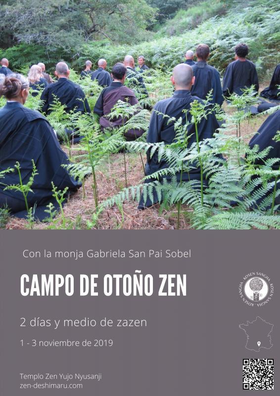 Campo de otoño 2019: Zazen la méditation Zen, Templo del Caroux cerca de Montpellier