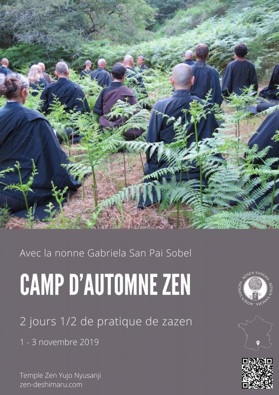 Camp d'automne 2019: Zazen la méditation Zen, Temple du Caroux près de Montpellier