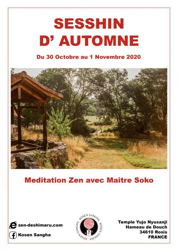 Camp d'automne 2020: Zazen la méditation Zen, Temple du Caroux près de Montpellier