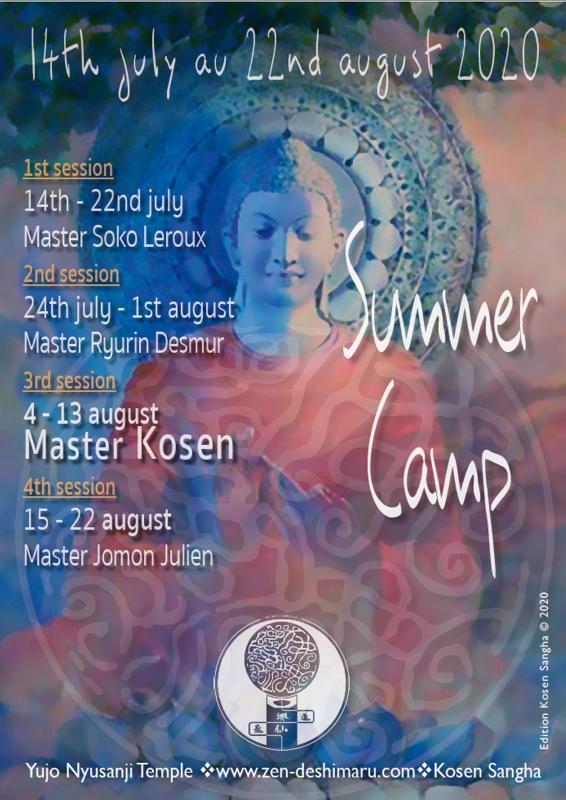 Summer Camp 2020: Zazen the méditation Zen, Caroux Temple near of Montpellier