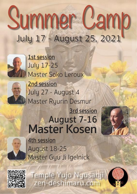 Summer Camp 2021: Zazen the méditation Zen, Caroux Temple near of Montpellier
