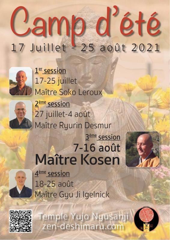 Camp d'été 2021: Zazen la méditation Zen, Temple du Caroux près de Montpellier