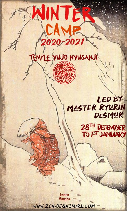 Winter camp 2020-2021: Zazen the méditation Zen, Caroux Temple near of Montpellier