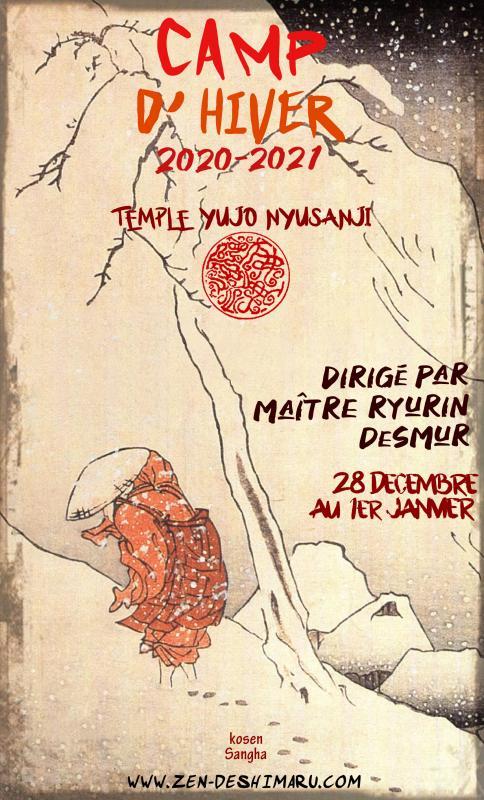 Camp d'hiver 2020-2021: Zazen la méditation Zen, Temple du Caroux près de Montpellier