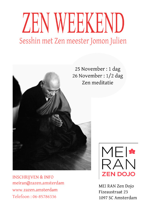 Sesshin de Amsterdam noviembre 2017