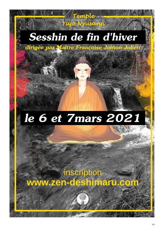 Sesshin de fin d'hiver 2021: Zazen la méditation Zen, Temple du Caroux près de Montpellier