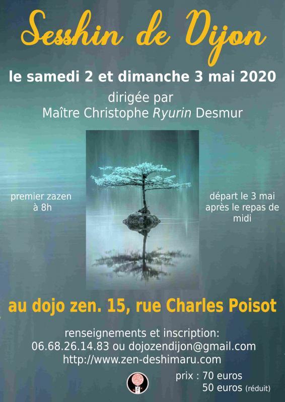 Sesshin of Dijon 2020: Zazen the méditation Zen, Zen Dojo of Dijon
