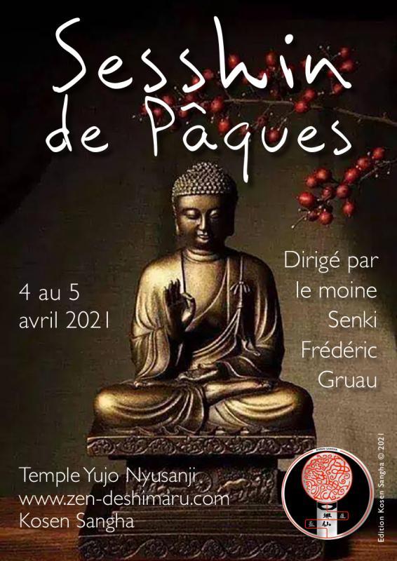 Sesshin de Pâques 2021: Zazen la méditation Zen, Temple du Caroux près de Montpellier