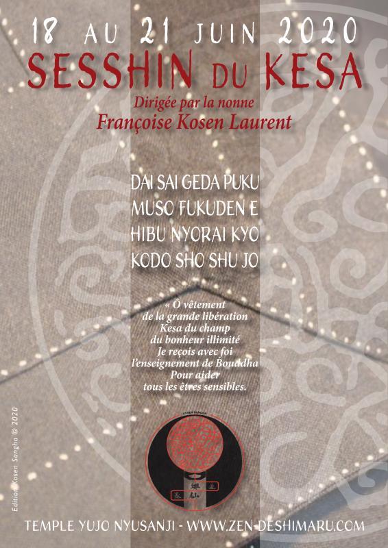 Sesshin du Kesa 2020: Zazen la méditation Zen, Temple du Caroux près de Montpellier