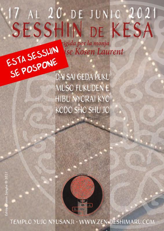 Costura de Kesa 2021: Zazen la méditation Zen, Templo del Caroux cerca de Montpellier
