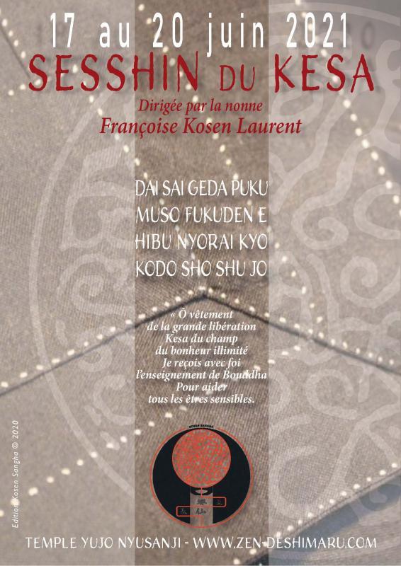 Sesshin du Kesa 2021: Zazen la méditation Zen, Temple du Caroux près de Montpellier