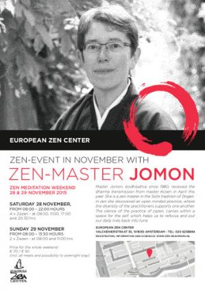Sesshin Amsterdam avec Maître Jomon