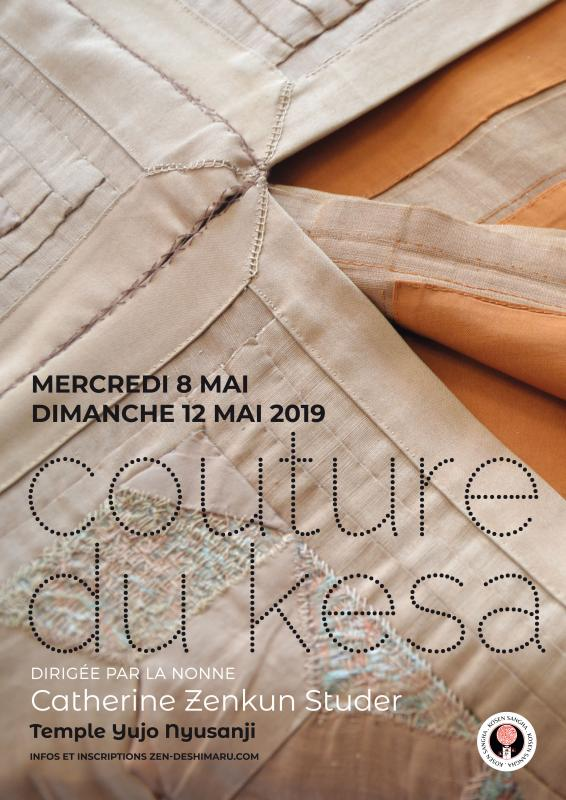 Couture du Kesa 2019: Zazen la méditation Zen, Temple du Caroux près de Montpellier