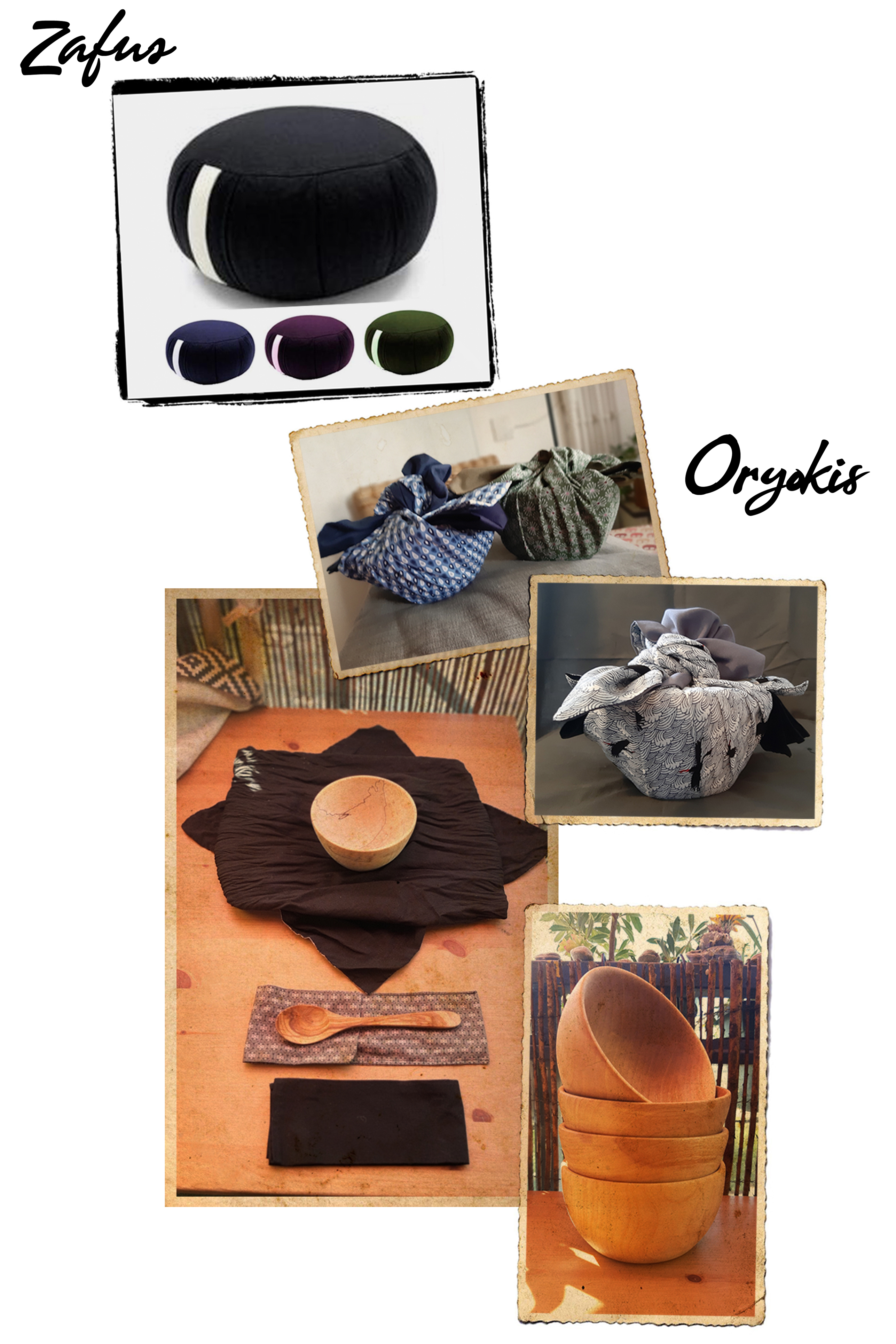 Fabrication de Zafus et Bols traditionnels (Oryokis) Zen